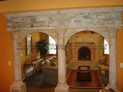 Interior Stone Columns : Accenting your home with natural stone columns carved