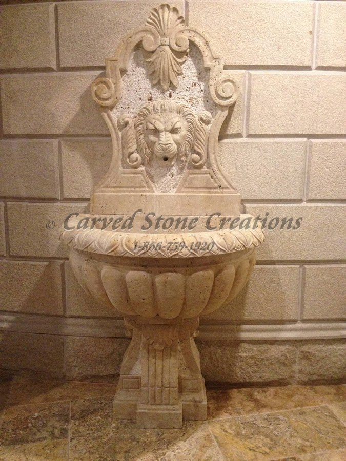 Carved Stone Fence : Stone fountains to enhance your landscape