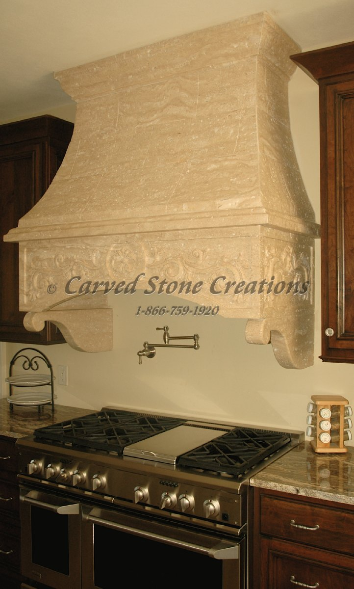 Custom Stone Kitchen Hoods | Carved Stone Creations