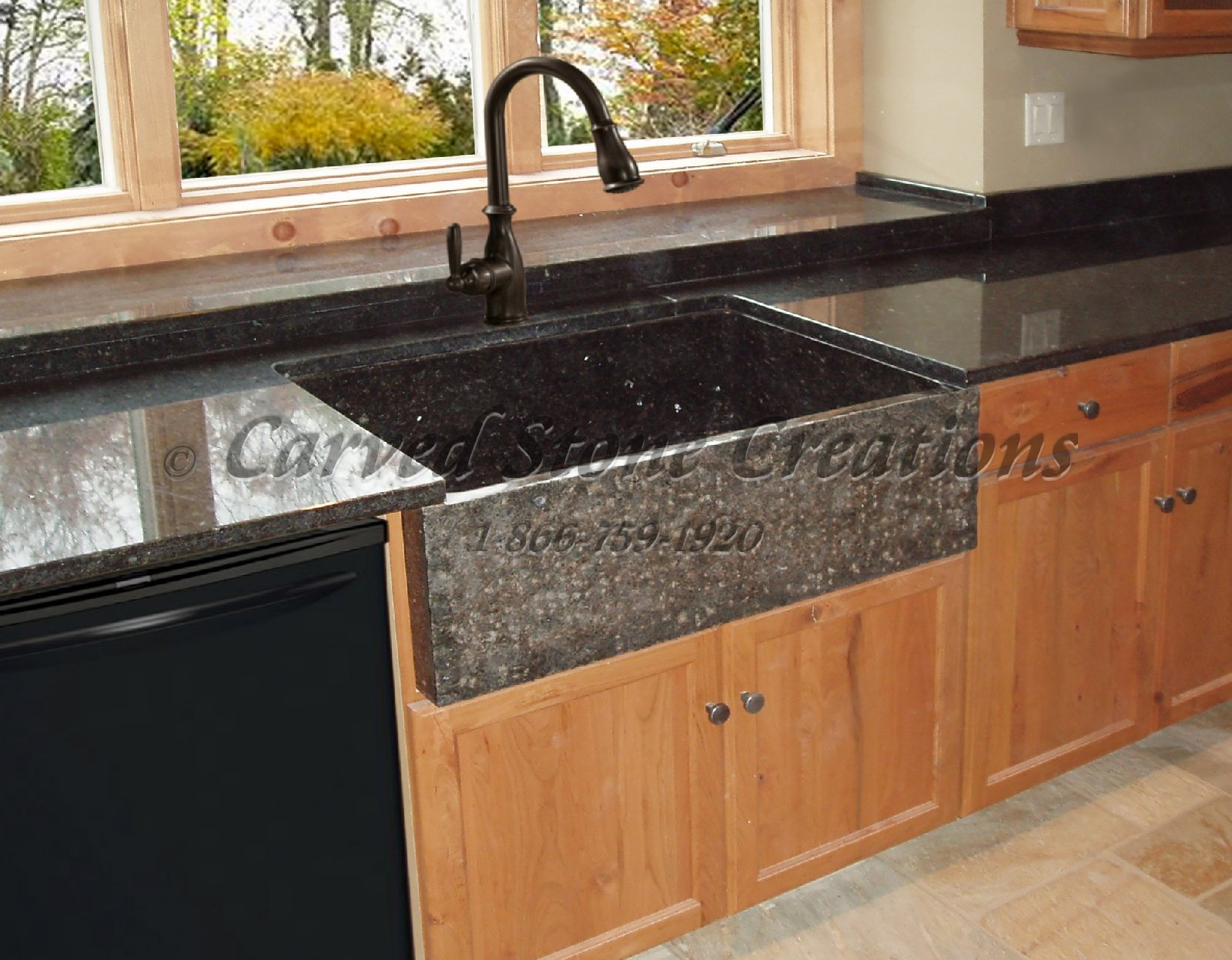 Elegant Natural Stone Kitchen Sink Designs