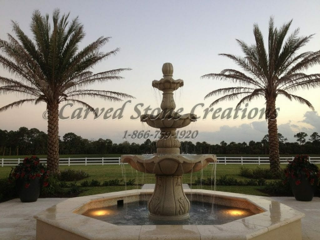 Cast Stone Fountain