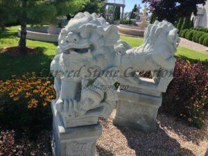 Granite Foo Dog Sculpture
