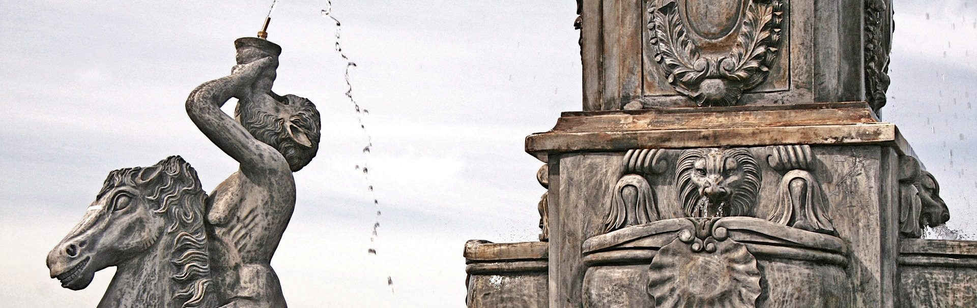 handcarved stone statuary fountain