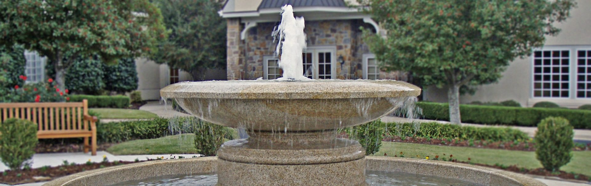 large stone urn fountain