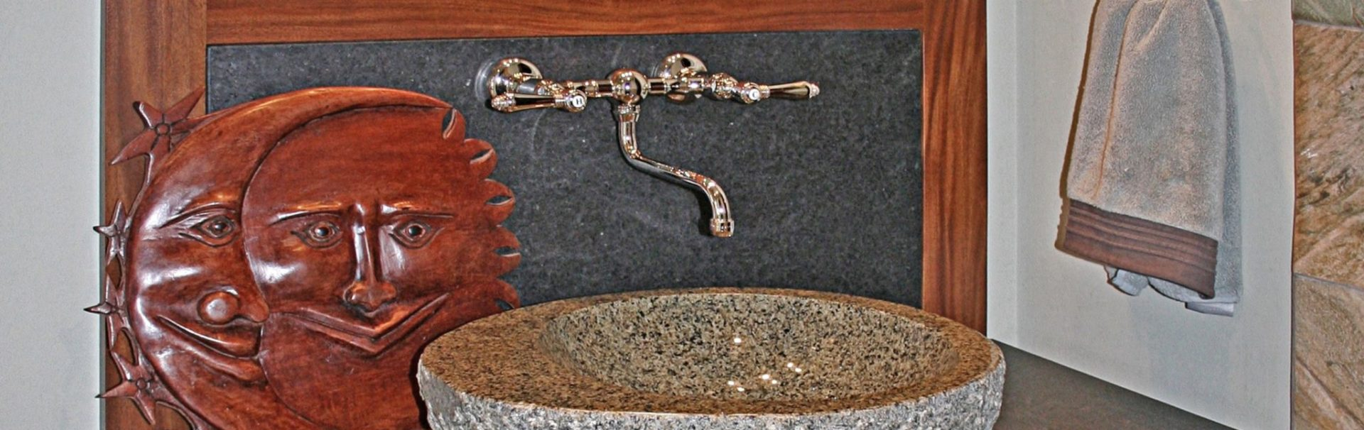 handcarved stone vessel sink