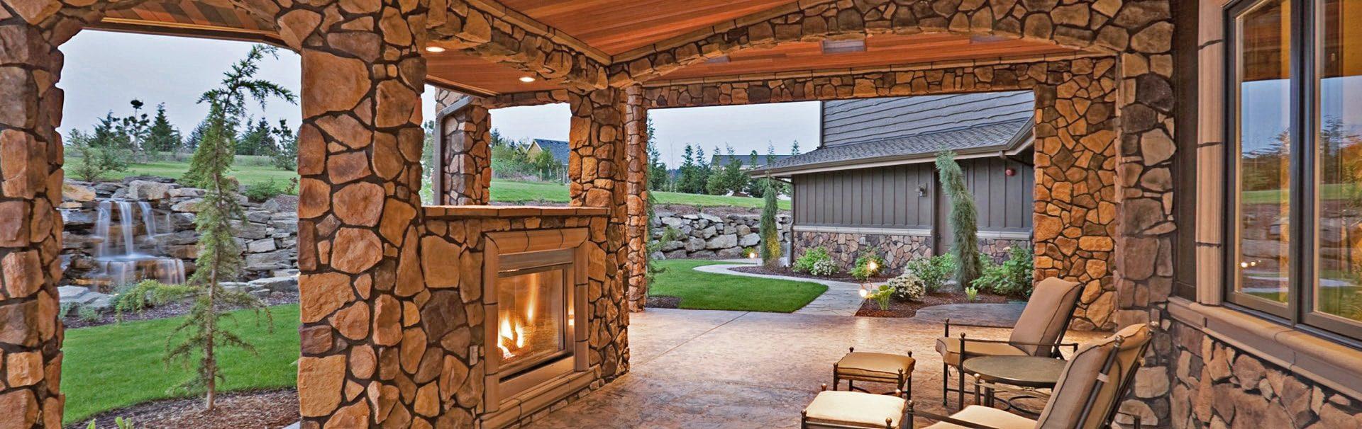 stone home architecture