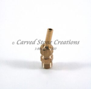 "1/4"" Brass Adjustable Fountain Nozzle"