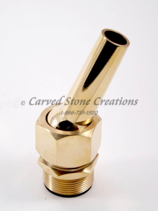 "1 1/2"" Adjustable Brass Fountain Nozzle"
