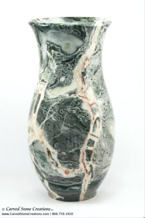 "H15""-16"" Medium Urn Shape Polished Multi-Marble Vase"
