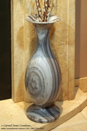 "H21"" - H22"" Tall Urn Shape Polished Multi-Marble Vase"