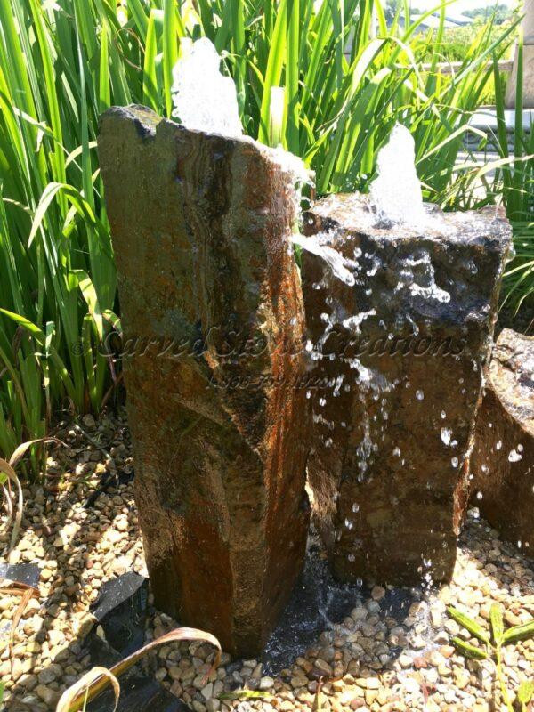 Large Bubbling Basalt Column Fountain, 12 x 30 in