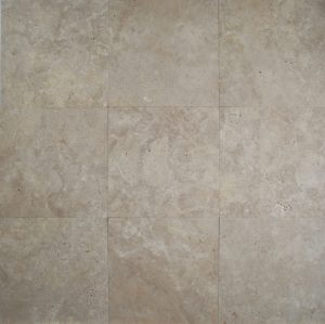 12×12 Light Oriental Travertine Honed Unfilled Tile