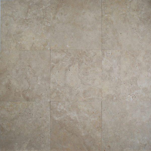 12×12 Light Oriental Travertine Honed Unfilled Tile