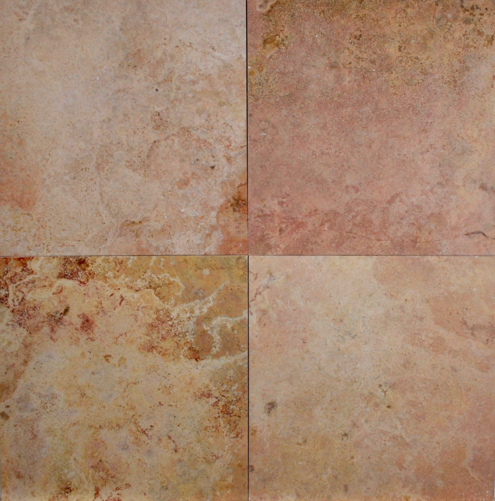 12 215 12 Peach Travertine Honed Filled Tile Carved Stone