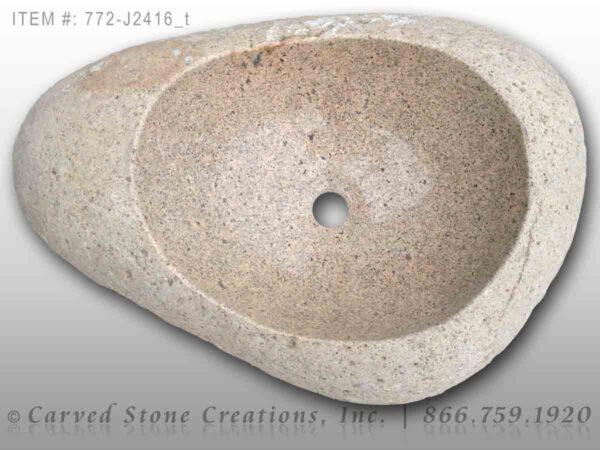 772-J2416 - Natural Boulder Rock Sink
