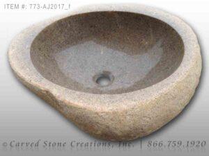 773-AJ2017 Natural Boulder Sink