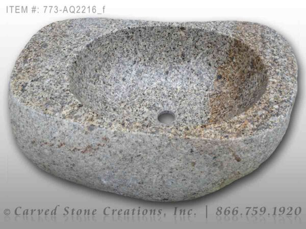 773-AQ2216 Natural Boulder Sink