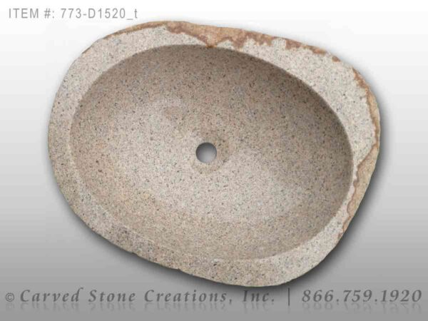 773-D1520 Natural Boulder Sink