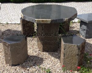 Basalt Garden Table Set