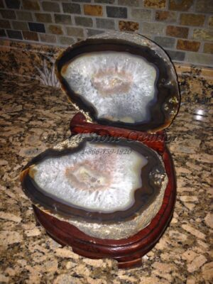 Mineral Display Natural Agate Brown