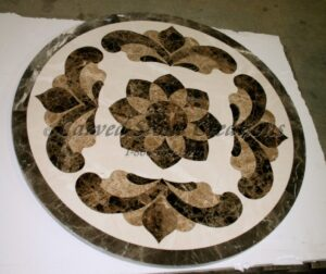 D42x2cm Waterjet Marble Medallion Cressi