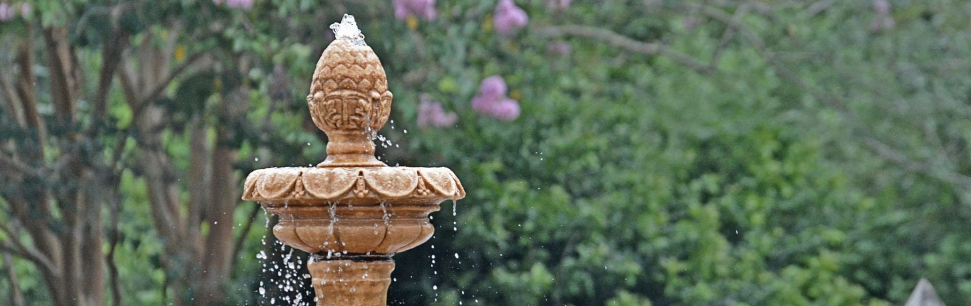 handcarved fountain finial