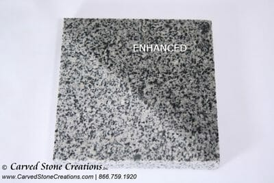 Charcoal Grey Granite with Enhancer Applied