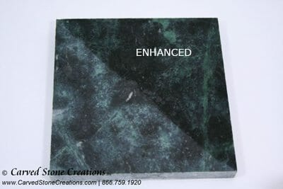 Honed Empress Green Marble with Enhancer Applied