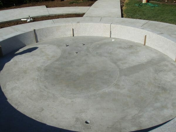 Concrete Slab for a Fountain Installation
