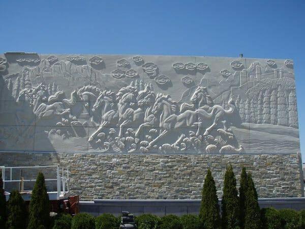 Wall Relief Sculpture Installation