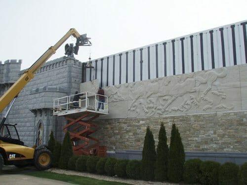 Wall Relief Sculpture Installation 6
