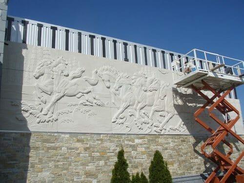 Wall Relief Sculpture Installation 7