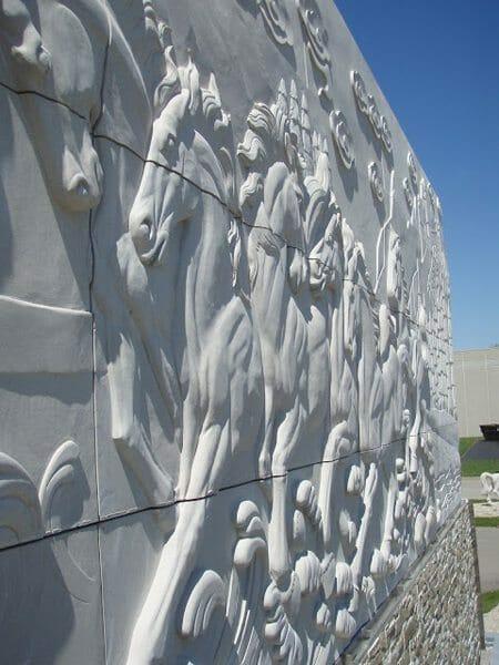 Wall Relief Sculpture Installation 9