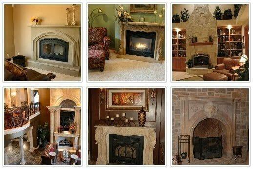 Unique Stone Fireplace Surround