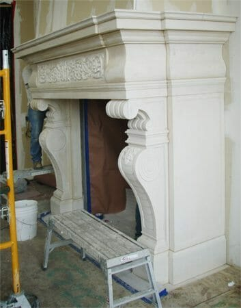 Natural Stone Fireplace Installation Stone Fireplace Installation 1