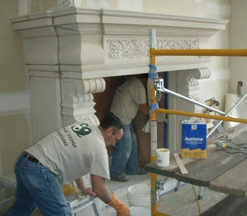 Natural Stone Fireplace Installation Stone Fireplace Installation 15
