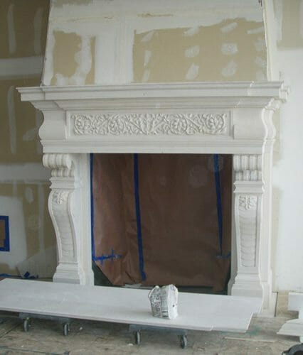 Natural Stone Fireplace Installation Stone Fireplace Installation 16