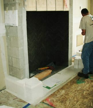Natural Stone Fireplace Installation Stone Fireplace Installation 5