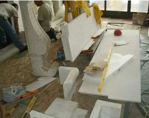 Natural Stone Fireplace Installation Stone Fireplace Installation 5A