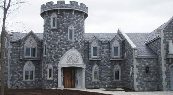 The Tower and front of the home after the remodel.