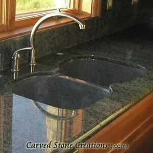 Charcoal Grey Granite Undermount Kitchen Sink