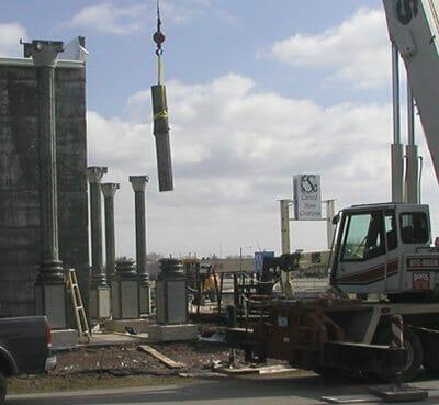 Exterior Stone Column Installation 3