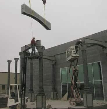 Exterior Stone Column Installation 6
