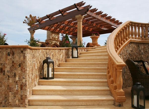 helical stone staircase