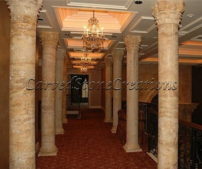 Interior Stone Column Installation 4