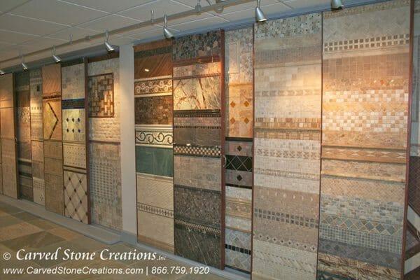 showroom stone tile display