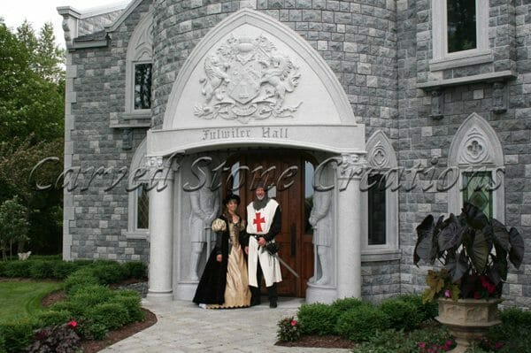 Granite Entryway with family crest