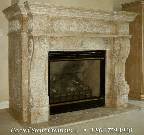 Stone Fireplace Designs - Travertine Fireplace Design Ideas