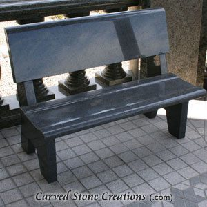 Park Bench with Backrest, 4-FT Charcoal Grey