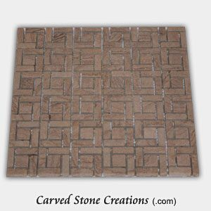 Timber Sandstone Tumbled Pinwheel Mosaic